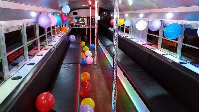 black jack silver party bus