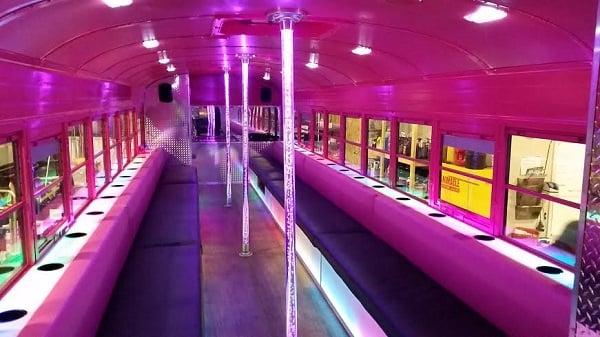 bubble gum party bus 1