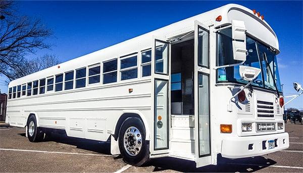 White Diamond Party Bus 18