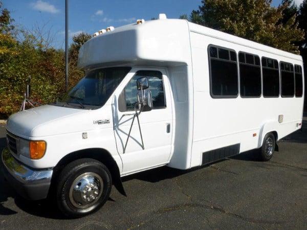 White Mini Party Bus